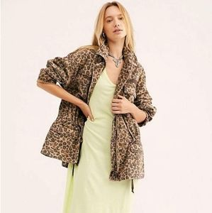 Free People Seize the Day Leopard print Jacket